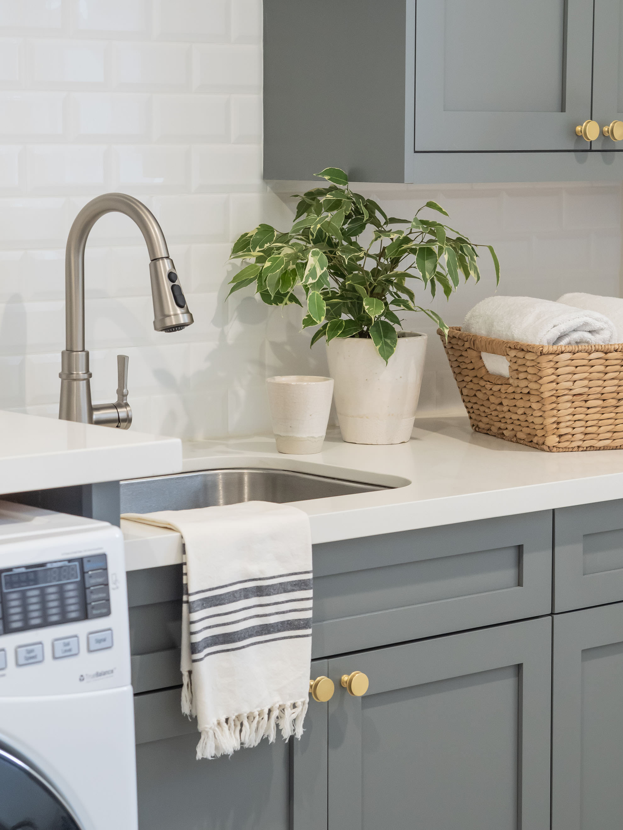 This  Moen faucet  and  Elkay sink  make a perfect pair.