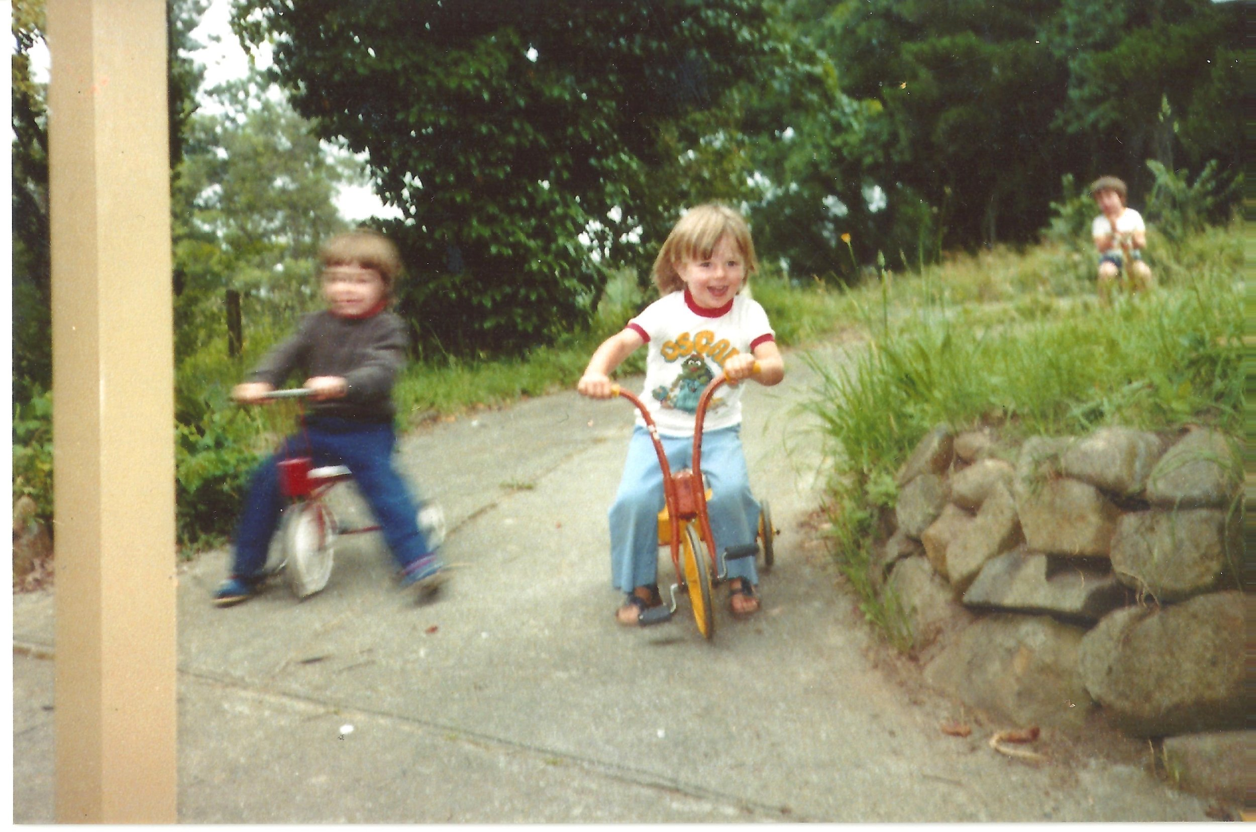 BLPC Sharon King 1981 or 82 Original Playgroup Members  Child on bike Shaun King.jpeg
