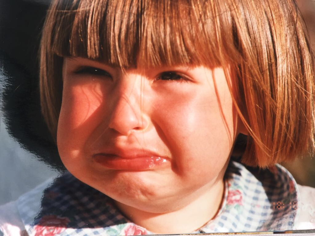 Me as a child when I realised I had no one to play with