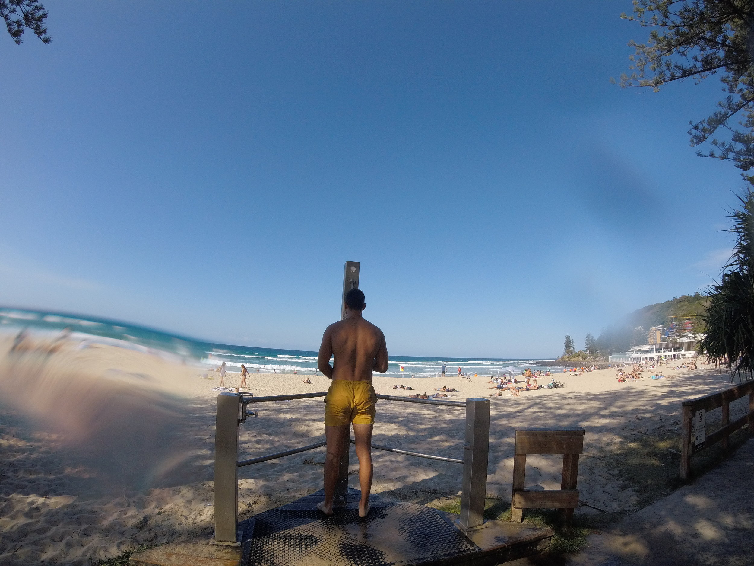 What would backpackers do without beach showers!?