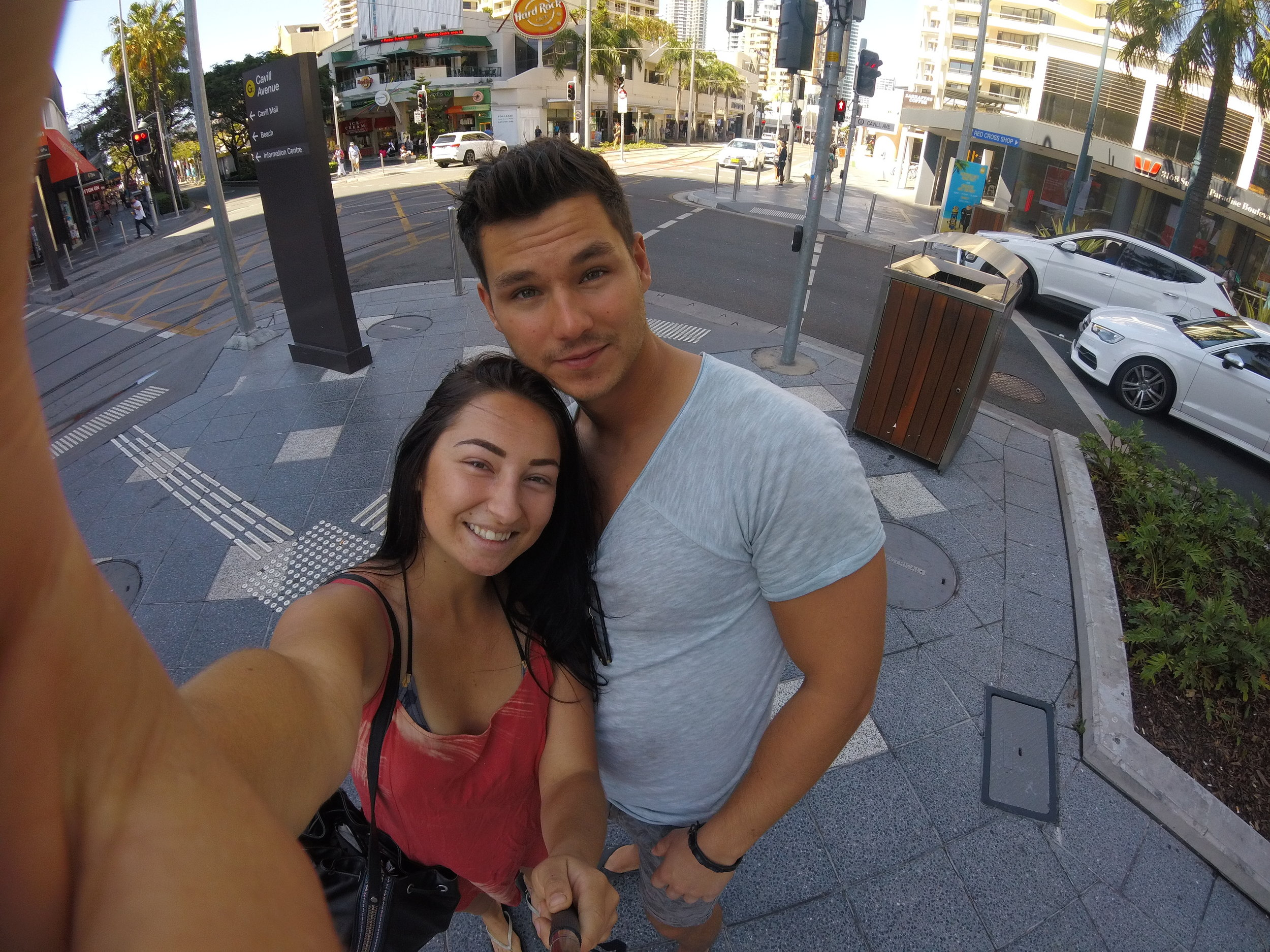 Henrik and I looking super tanned at Surfers Paradise.