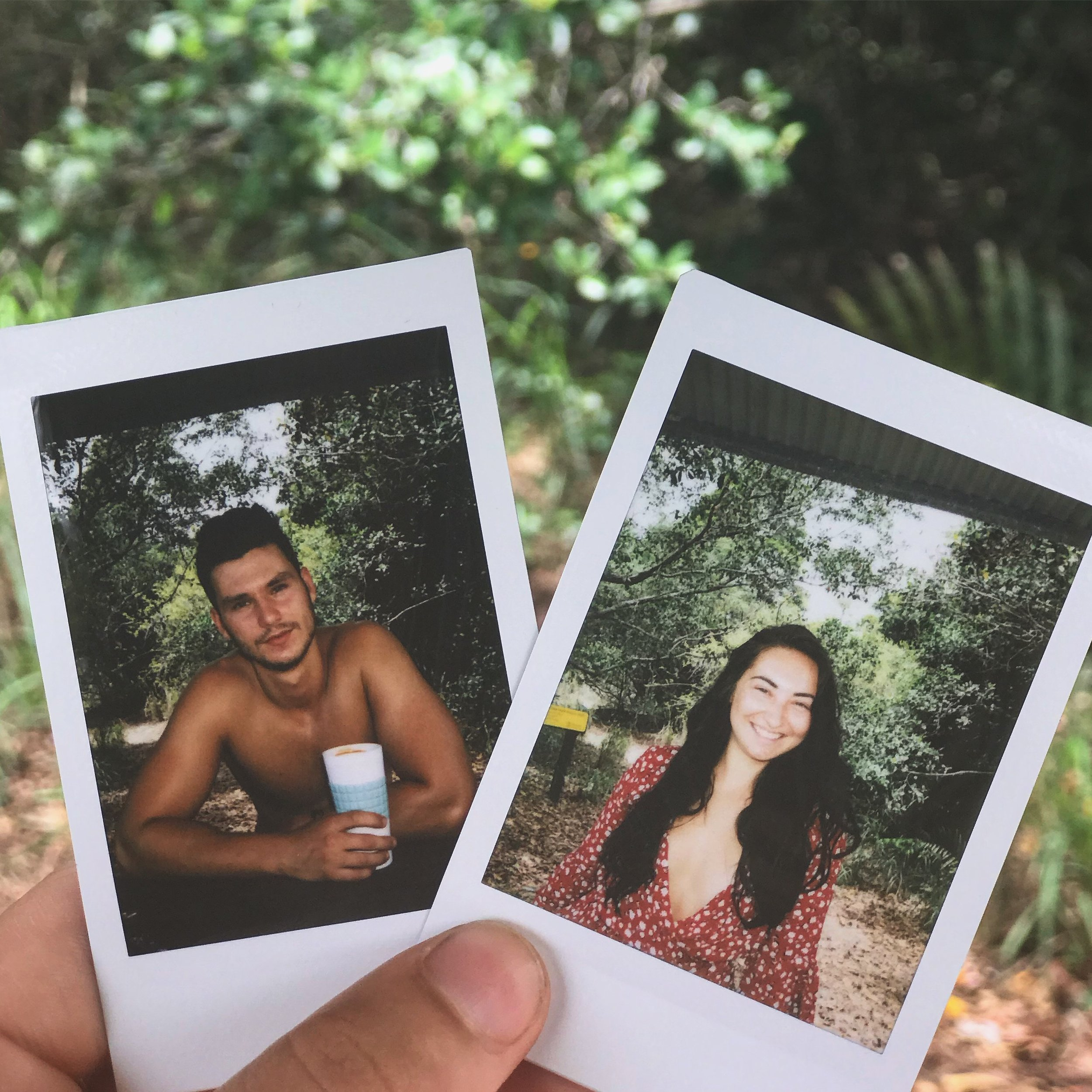 A polaroid of each other, for one another.