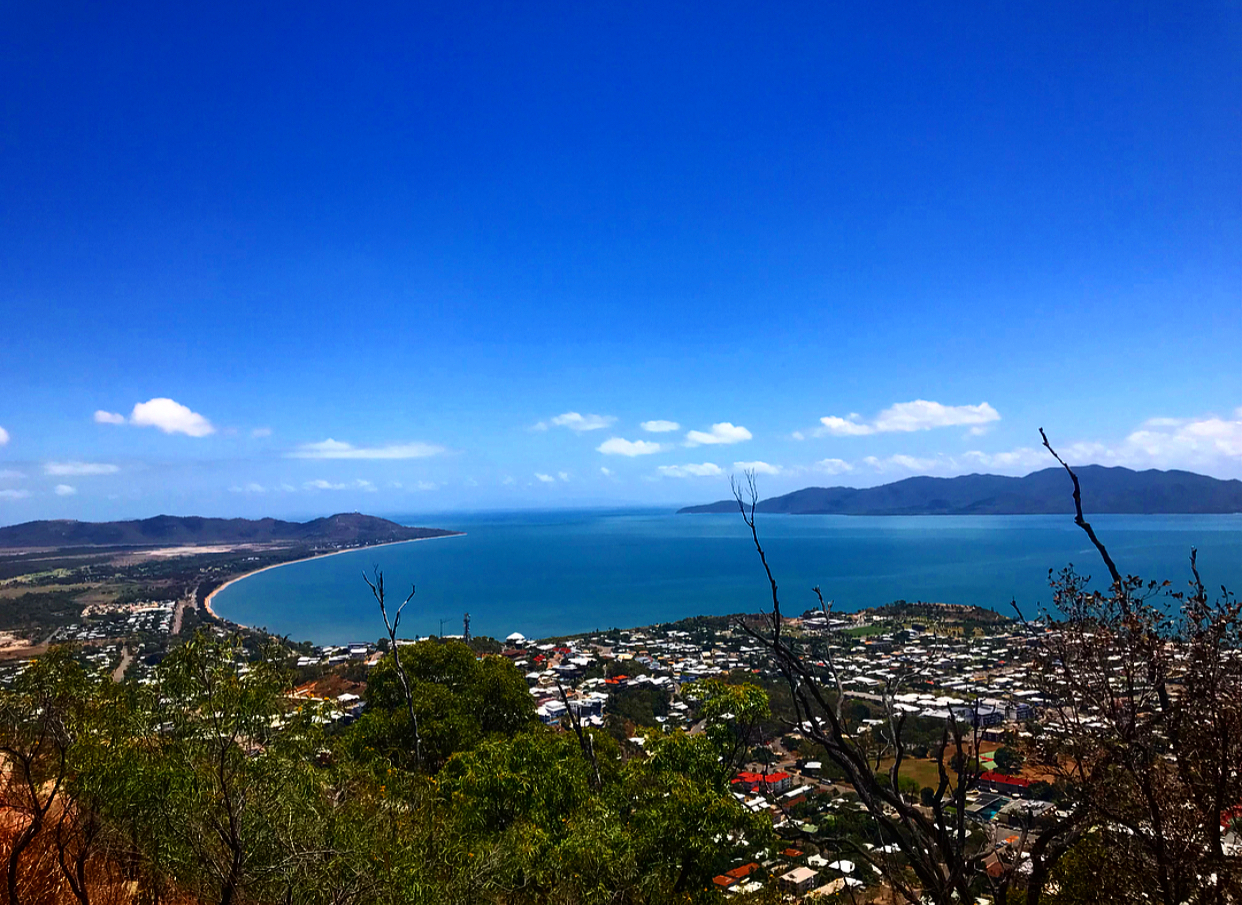 The view from Castle Hill, Townsville.