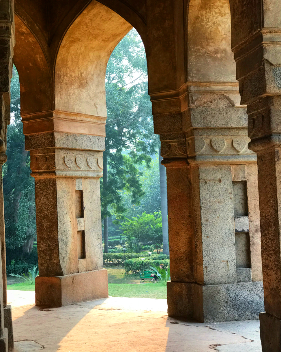 Loving these enchanting archways at Lodhi Gardens.