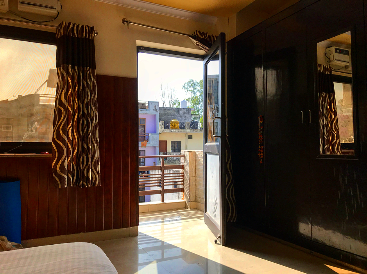 My room of luxury at Rishikesh Nath Yogshala.