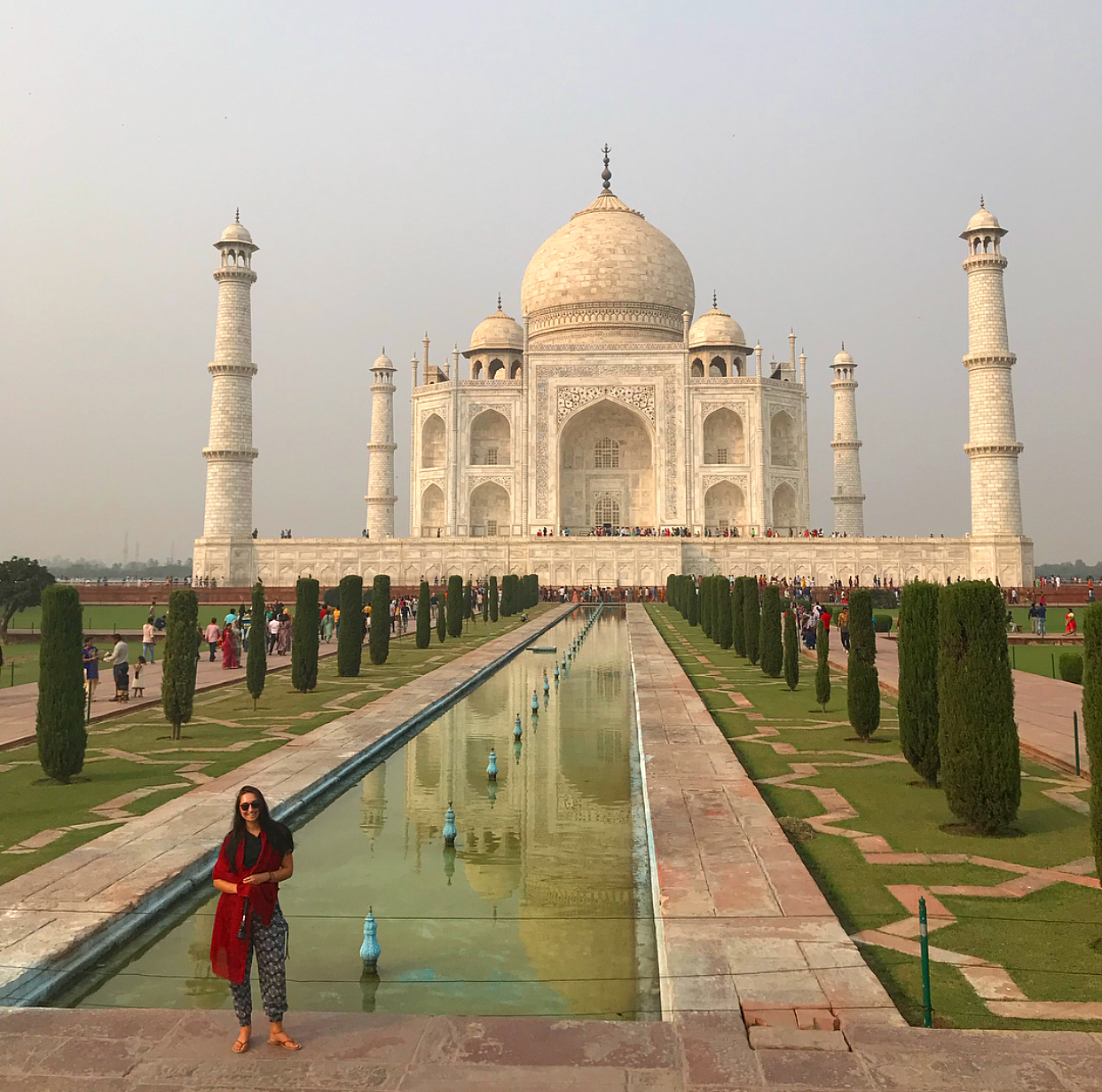 The Taj Mahal in all its wonder.