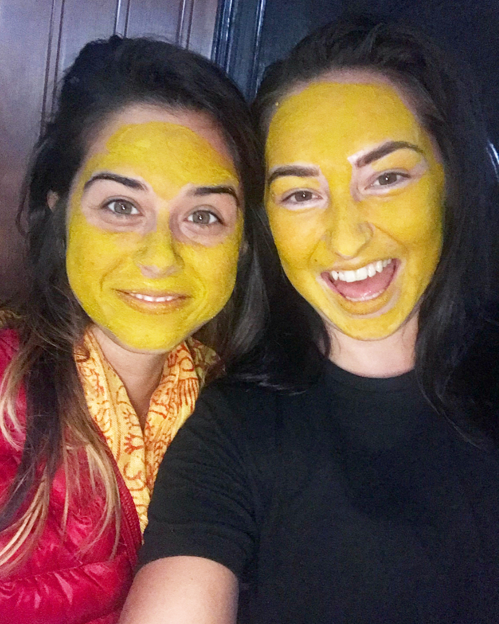 Decided to make our own turmeric face masks (which does the skin wonders by the way).