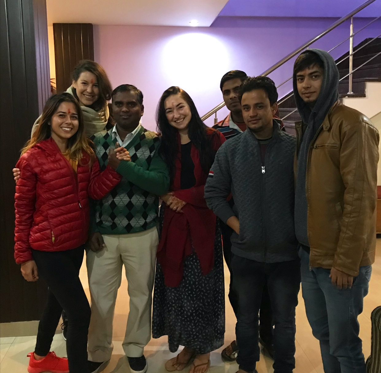 The super amazing team at the Rishikesh Nath Yogshala, treating us well and truly as though we really do live in a palace (the hotel is called the Leisure Palace).
