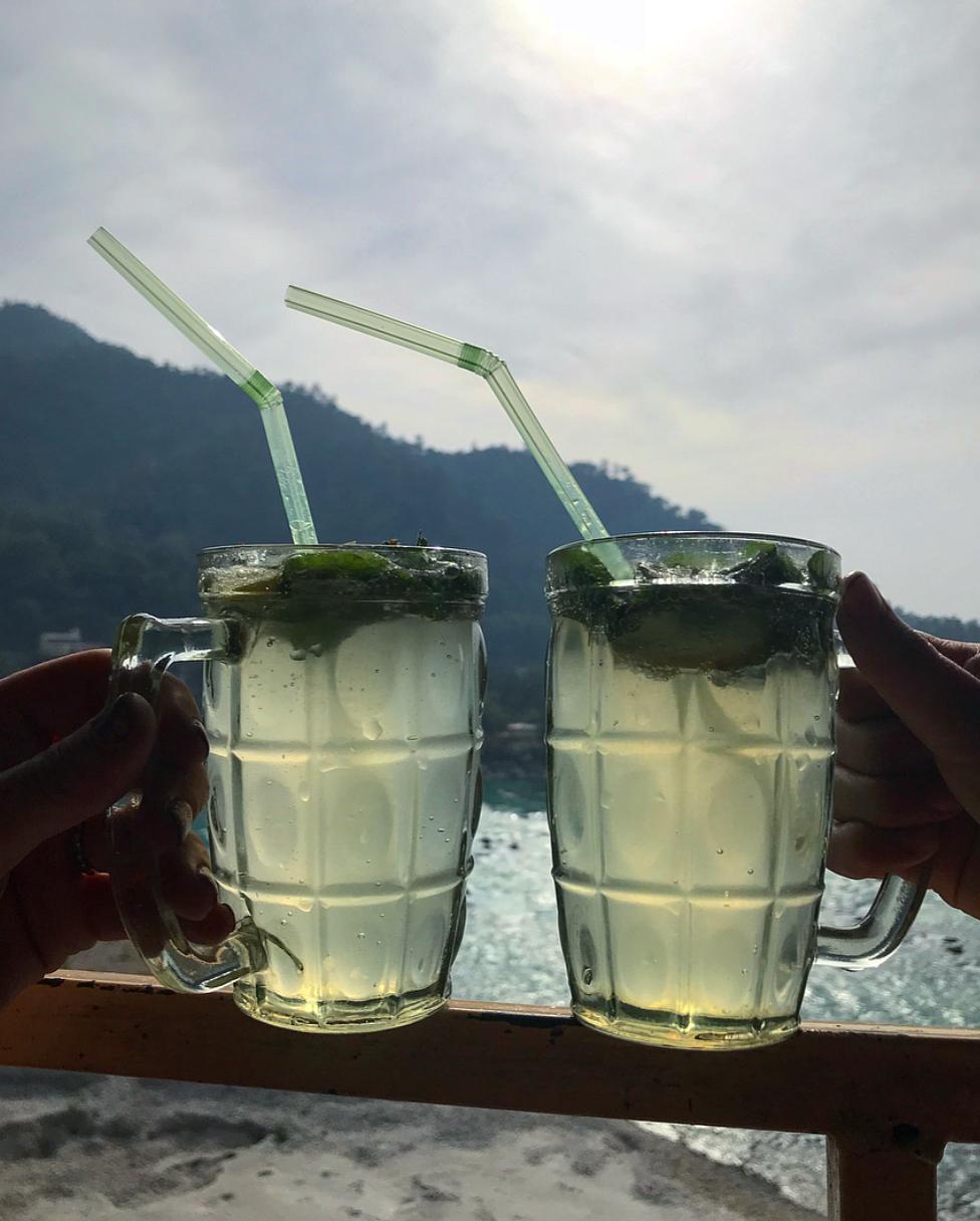 Enjoying Rishikesh being an alcohol free city.