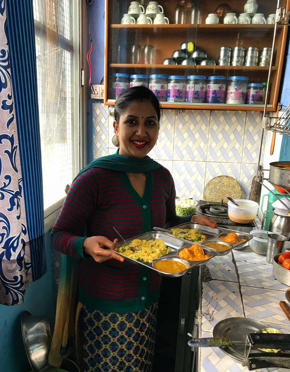 This tiny space is the whole kitchen, yet we still managed to make such an amazing food at Rajnee's!