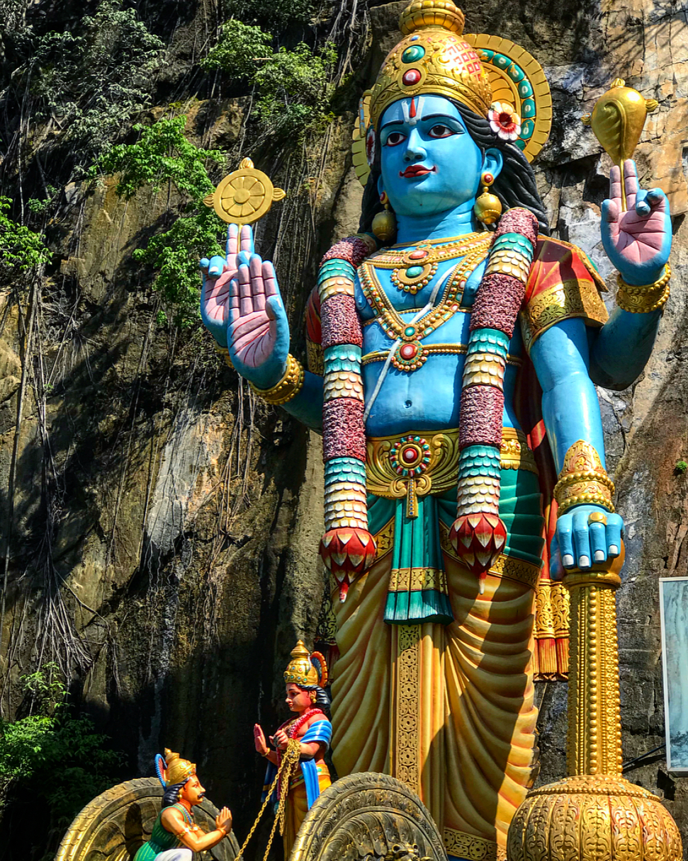 A giant statue of Lord Shiva outside the Batu Caves.