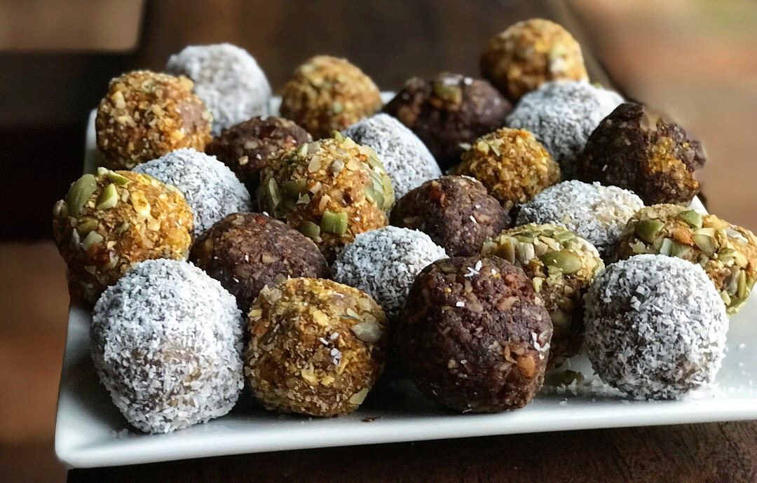 The delicious raw protein balls I taught everyone to make.