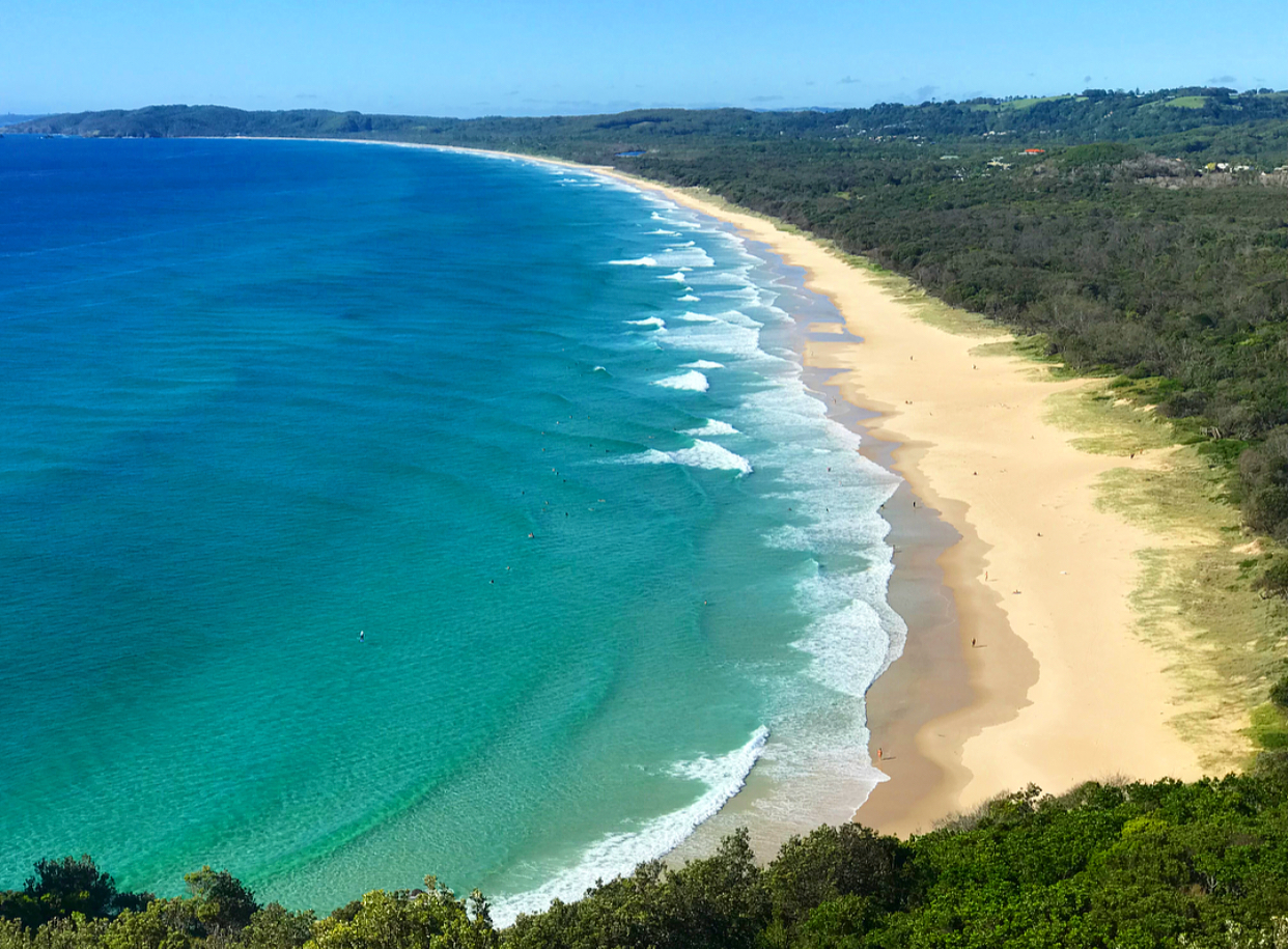 A day trip to Byron Bay, home to beautiful beaches and dolphins!