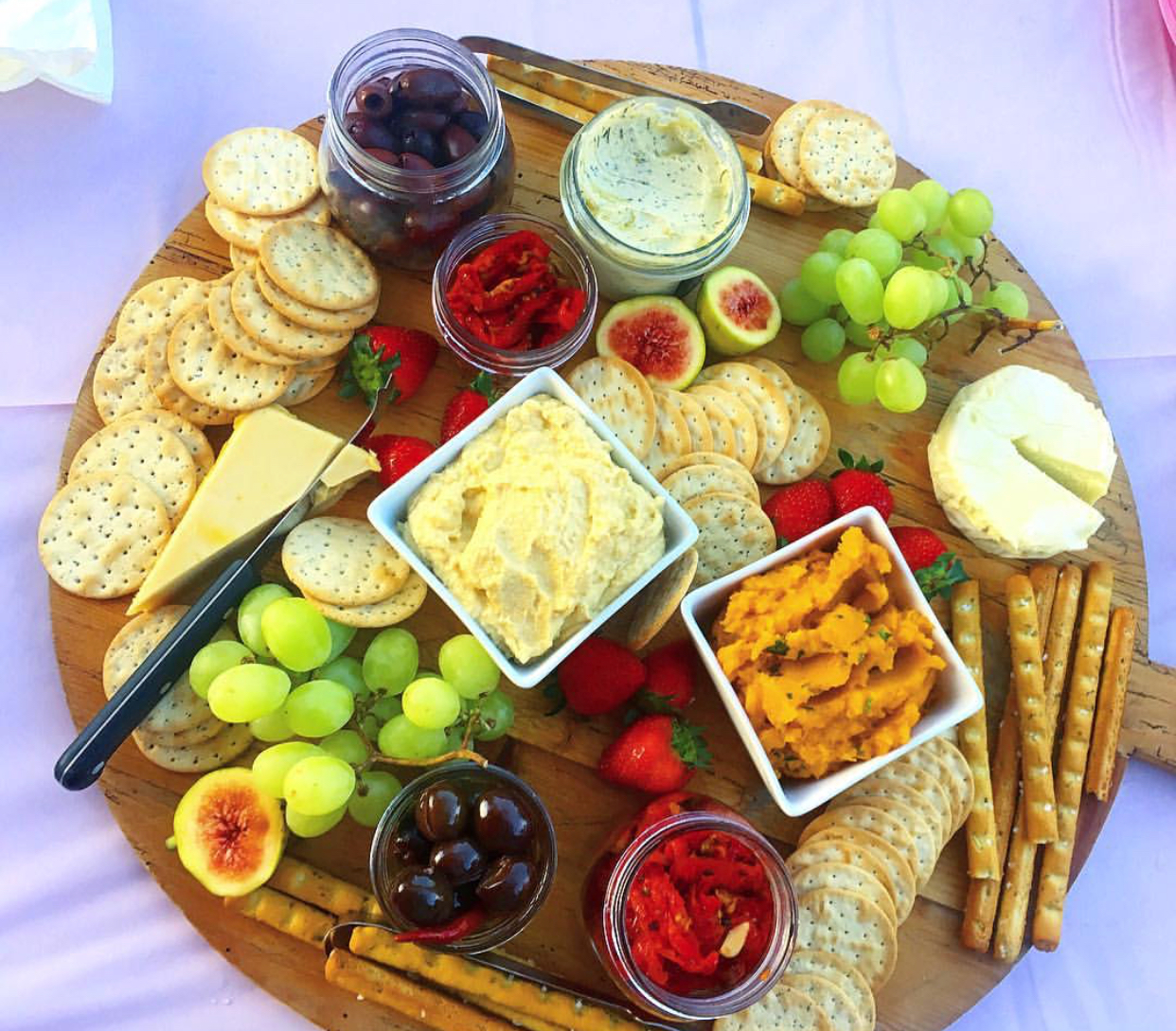 An incredible vegan cheese platter made for my cousins 21st birthday in Australia.