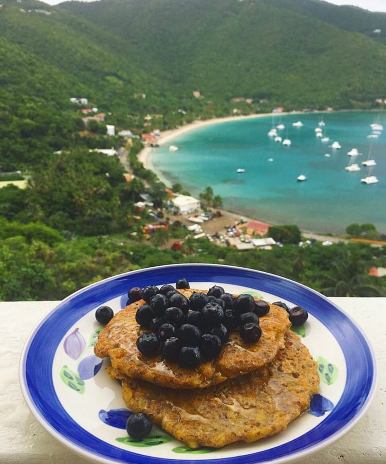 Some delicious plantain pancakes (similar to banana) I made whilst visiting my dad in the Caribbean.