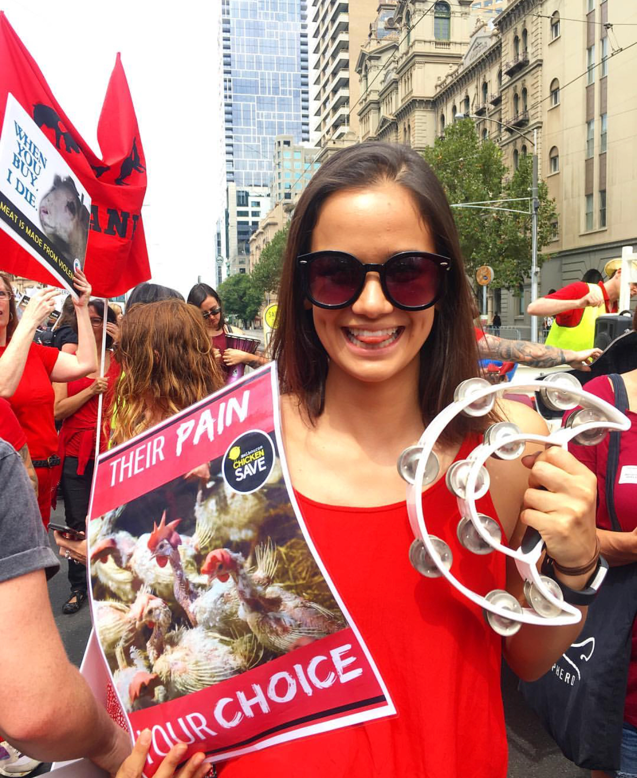 Spent the day with one of my best international vegan pals, Emily, at the march to end all slaughterhouses in Melbourne.