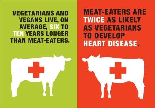 Vegans love an average of 6-10 years longer than meat eaters.