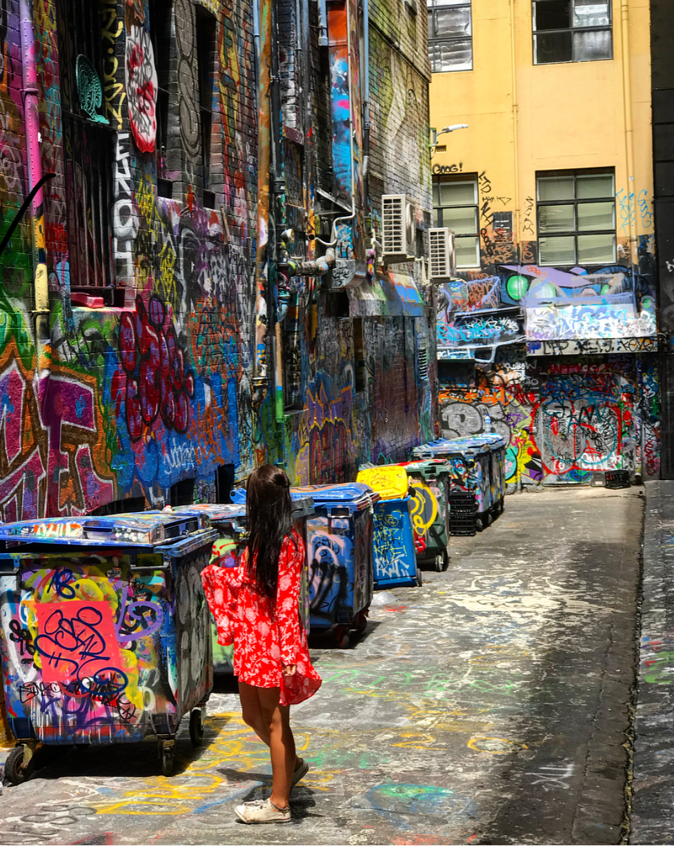 Exploring the graffiti art bck in Melbourne.