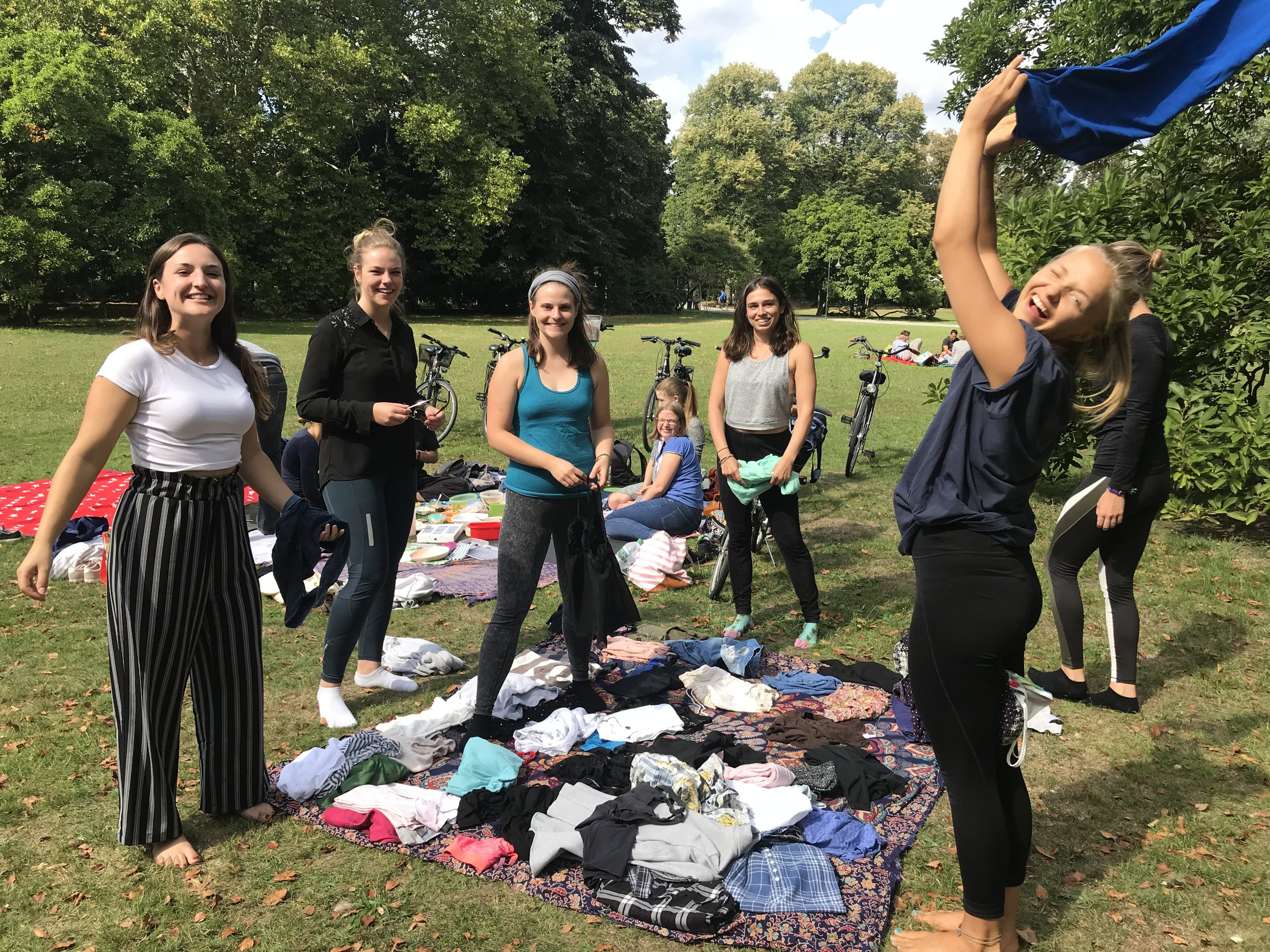 The girlies at our vegan picnic/clothes swap where I found a few great pieces!