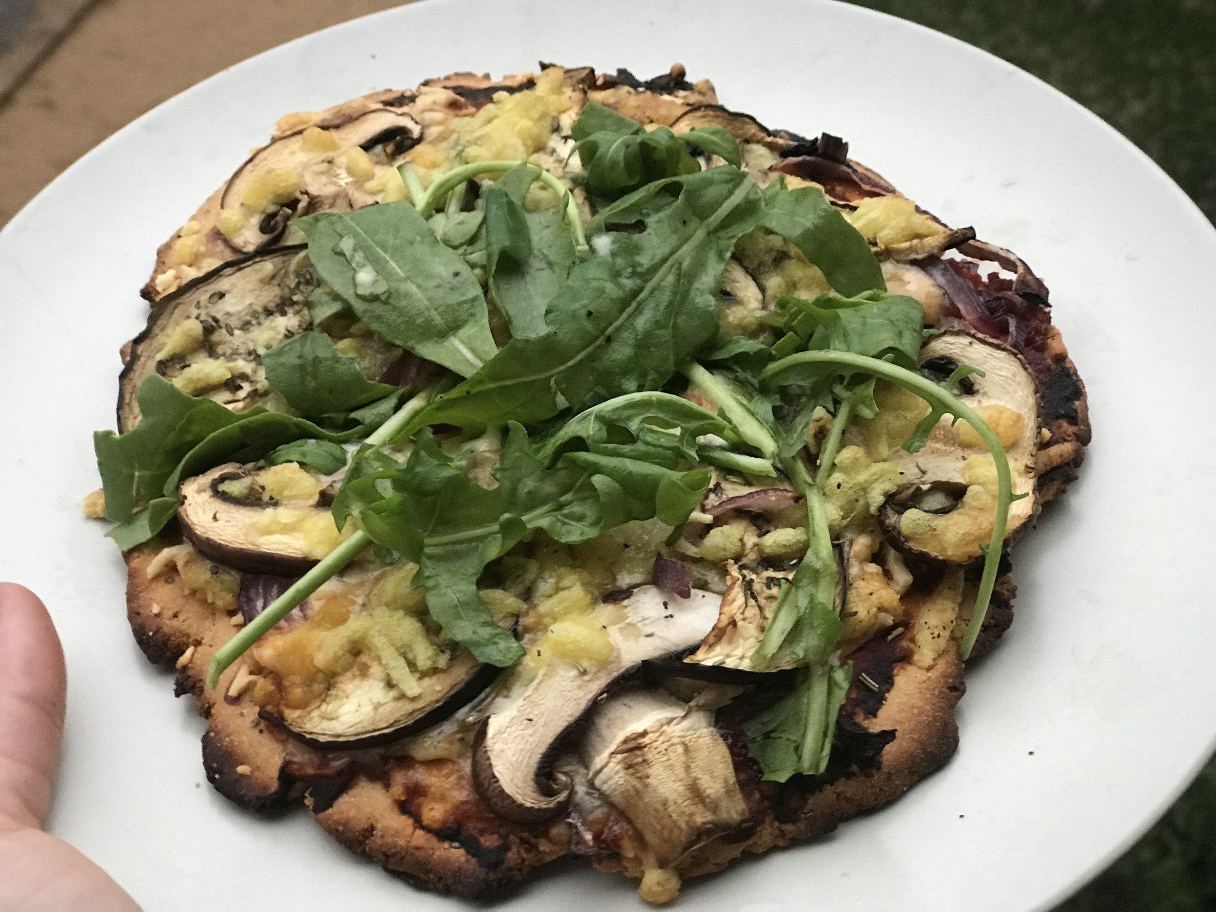 Homemade gluten free vegan pizzas with Eli