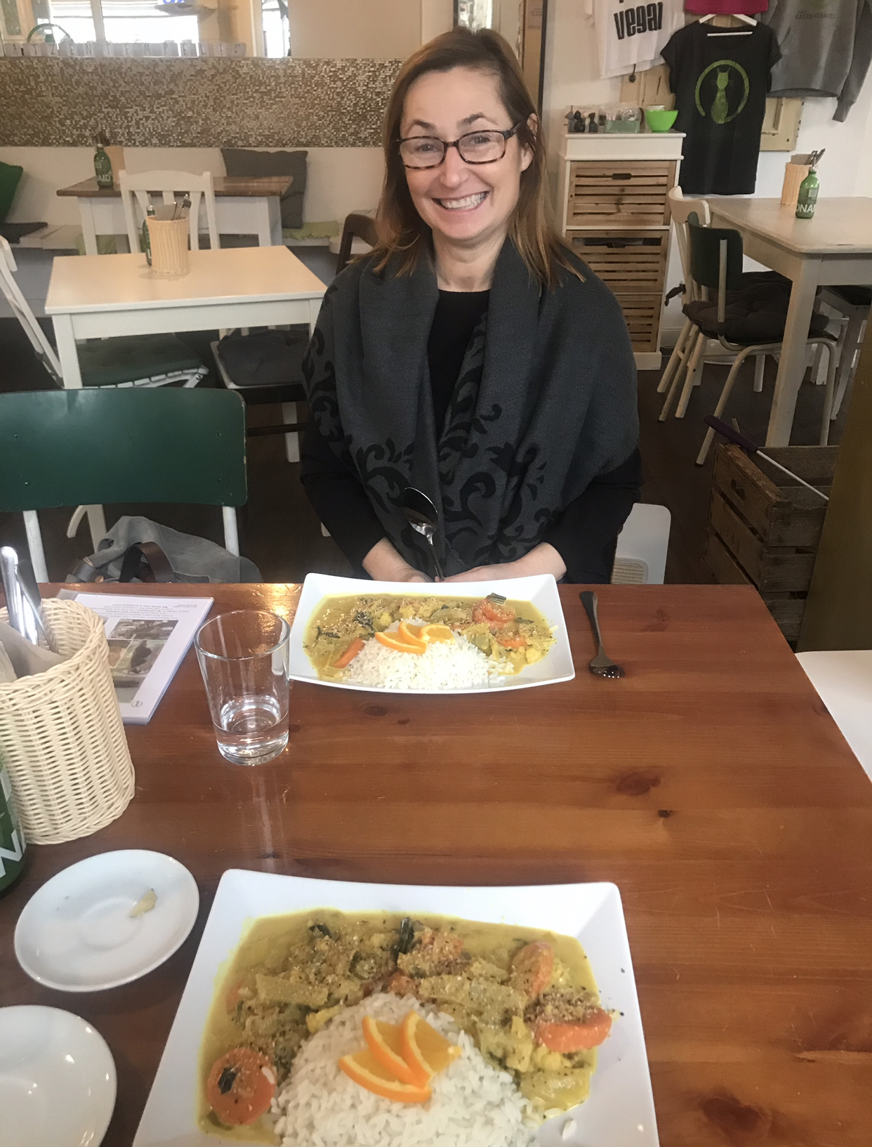 Our delicious vegan coconut curry.