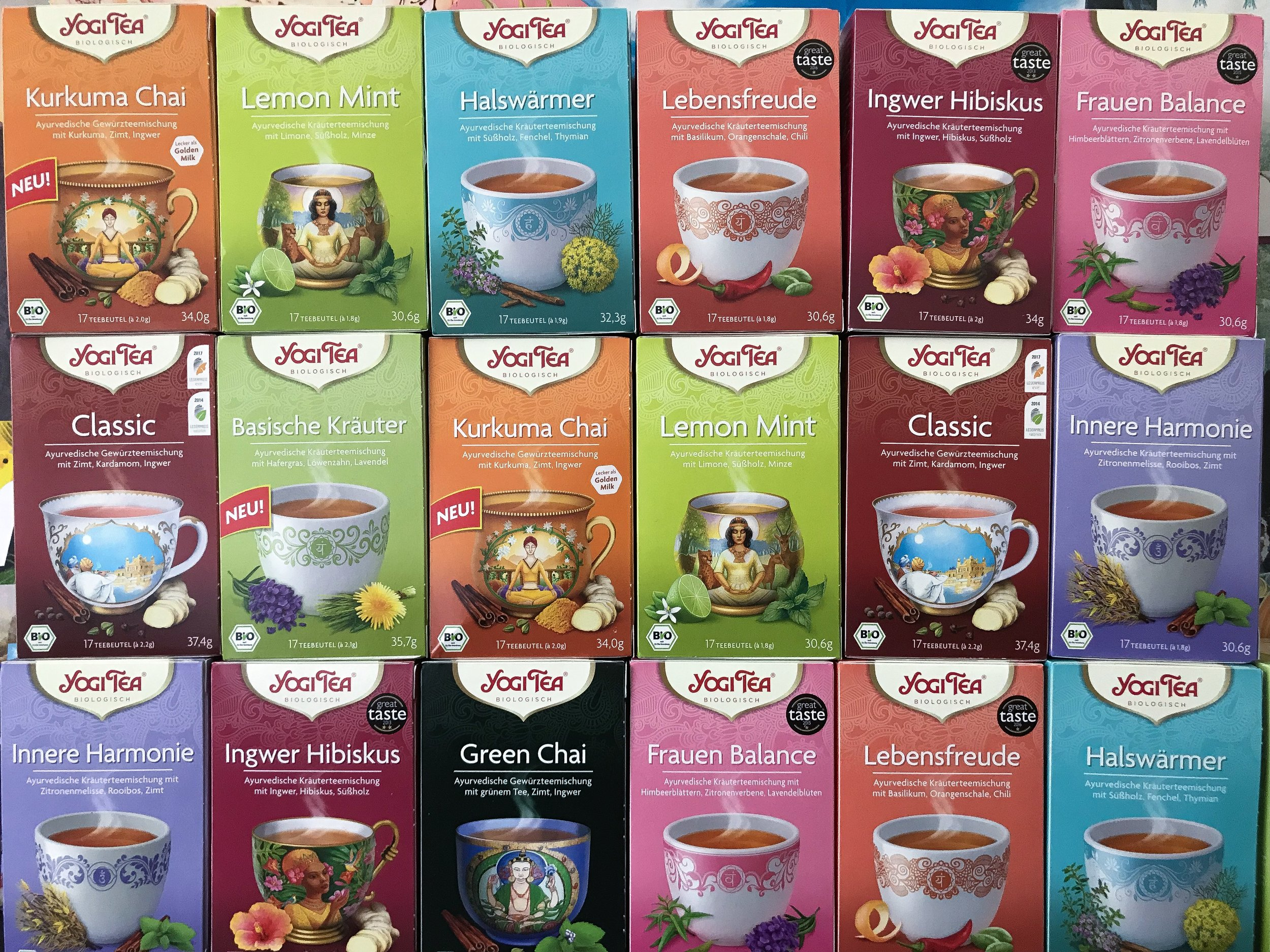 Our sponsors, Yogi Tea, for our next upcoming workshop!