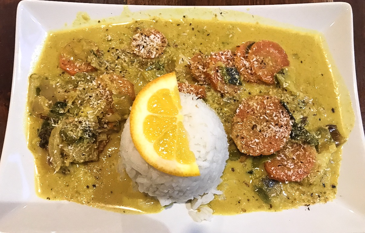 The most amazing vegan coconut curry.