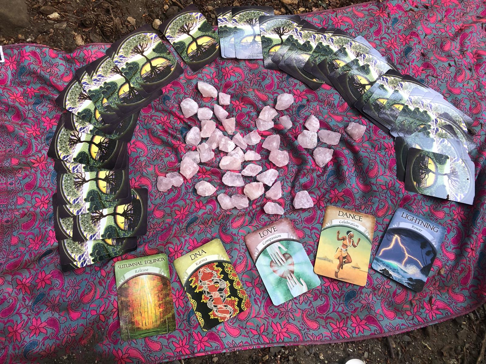 We will be choosing Oracle cards to help guide our New Moon Intentions