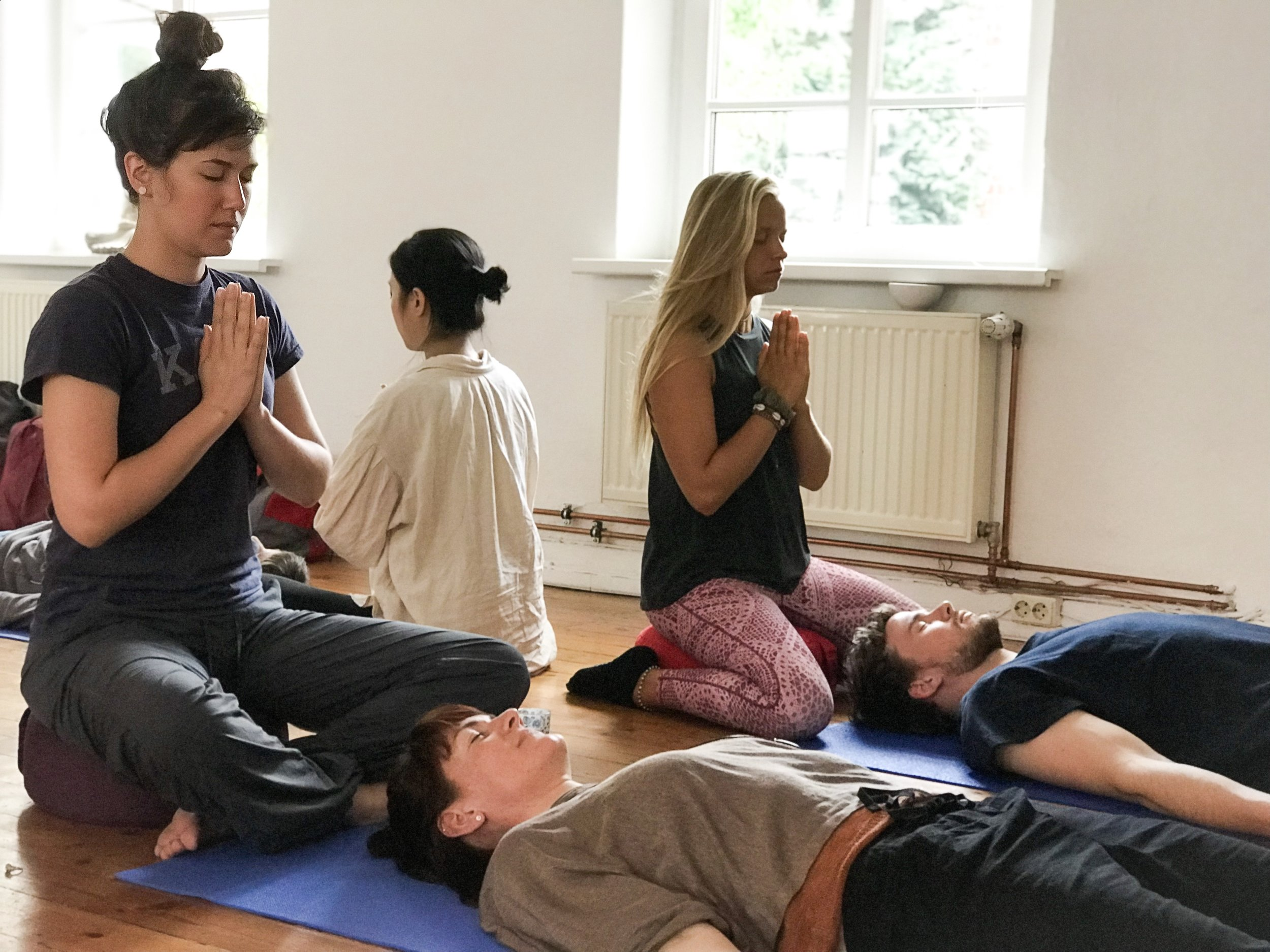 A snap shot of one of Maddie's Reiki Workshops
