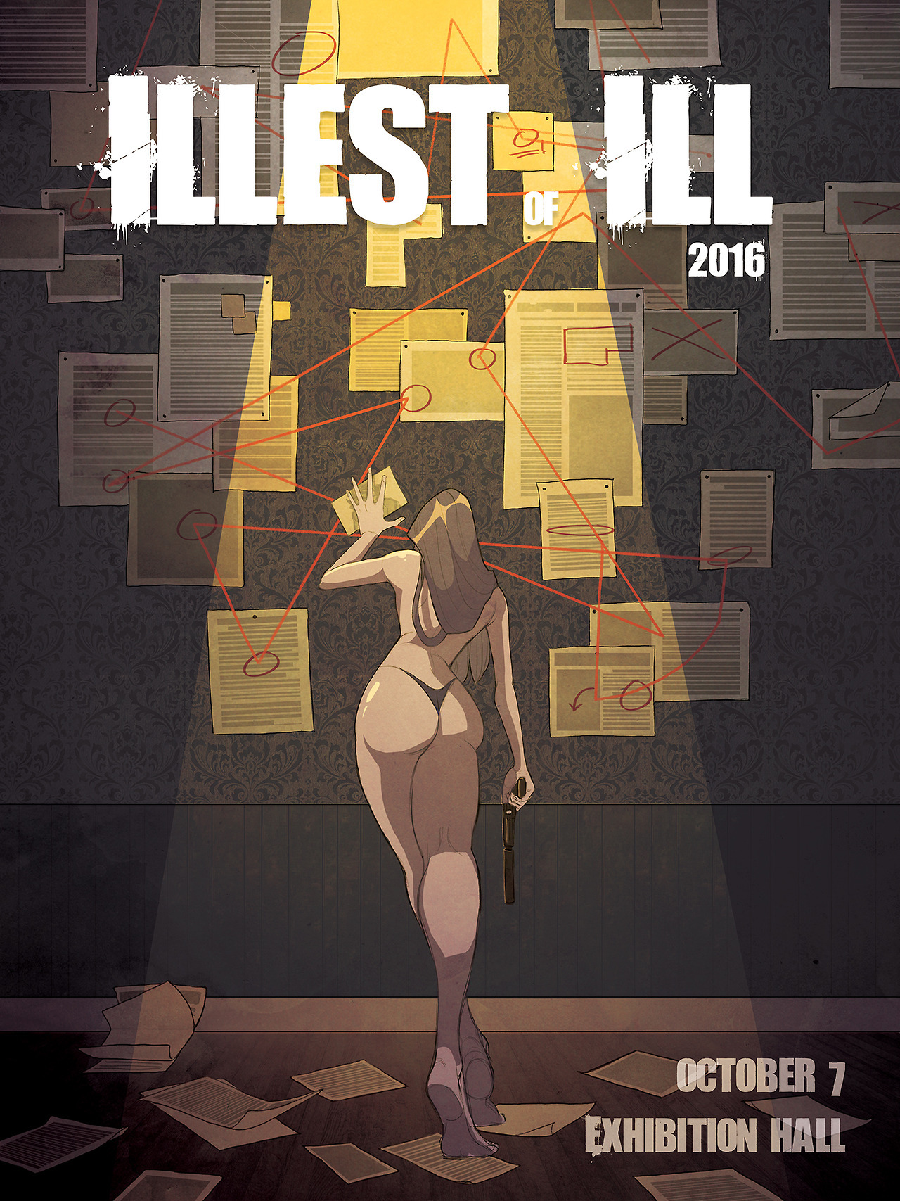 "Poster for the ""Illest of Illustration"" 2016 Art Gallery at Ringling College of Art and Design"