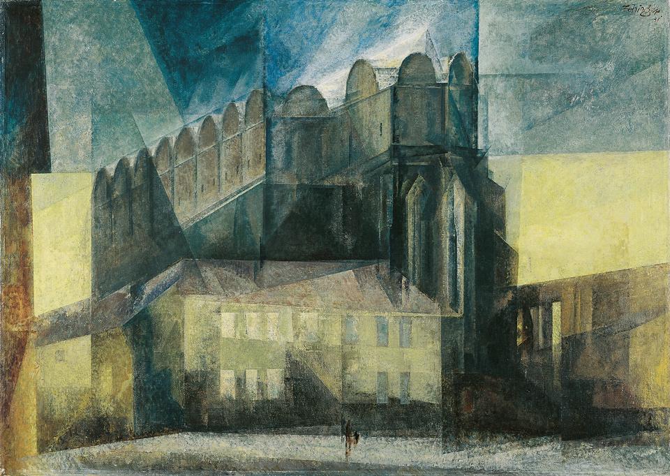 Lyonel Feininger: Der Dom in Halle, 1931, Öl auf Leinwand, 86,5 x 124,5 cm | Kulturstiftung Sachsen-Anhalt – Kunstmuseum Moritzburg Halle (Saale) | Foto: Klaus E. Göltz | © VG Bild-Kunst, Bonn 2019