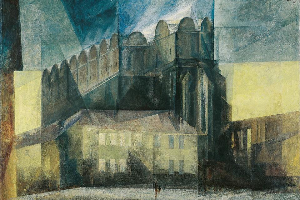 Lyonel Feininger: Der Dom in Halle, 1931, Öl auf Leinwand, 86,5 x 124,5 cm | Kulturstiftung Sachsen‑Anhalt – Kunstmuseum Moritzburg Halle (Saale) | Foto: Klaus E. Göltz | © VG Bild-Kunst, Bonn 2019