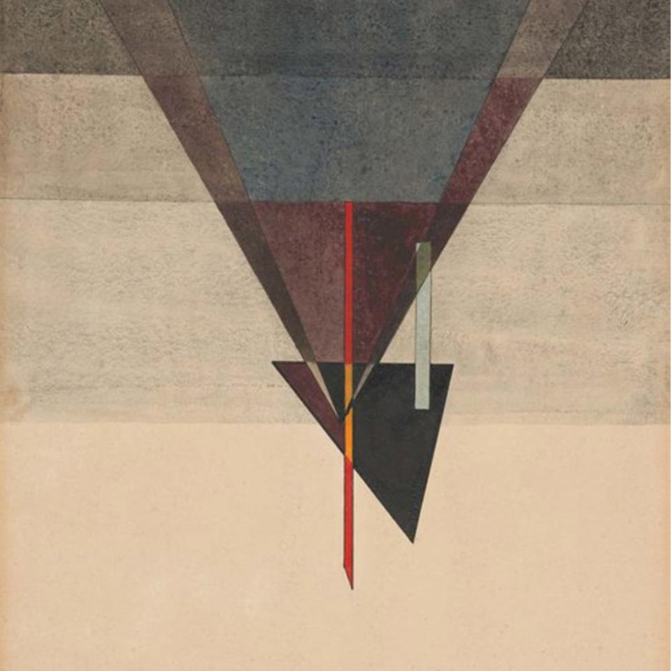 Wassily Kandinsky: Abstieg (Ausschnitt), 1925, Aquarell und Tusche auf Papier, 48,4 x 32,2 cm | Kulturstiftung Sachsen‑Anhalt – Kunstmuseum Moritzburg | Foto: Kulturstiftung Sachsen‑Anhalt