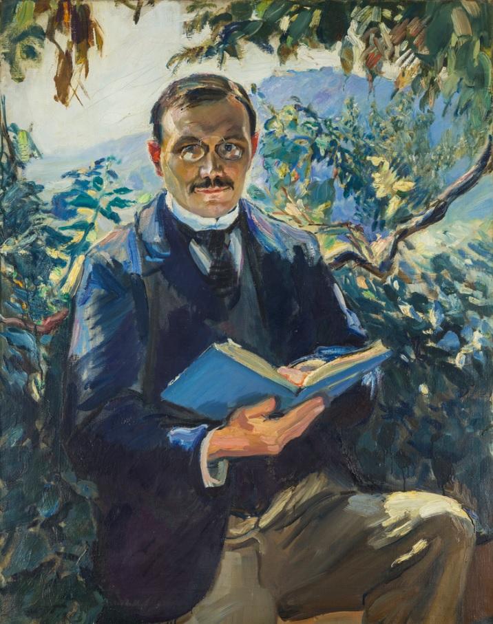 Max Slevogt: Portrait Philipp Fischer von Weikersthal (Der Philosoph), 1903, Öl auf Leinwand, 97,5 x 77 cm, Kulturstiftung Sachsen‑Anhalt – Kunstmuseum Moritzburg Halle (Saale), Foto: Punctum/Peter Franke