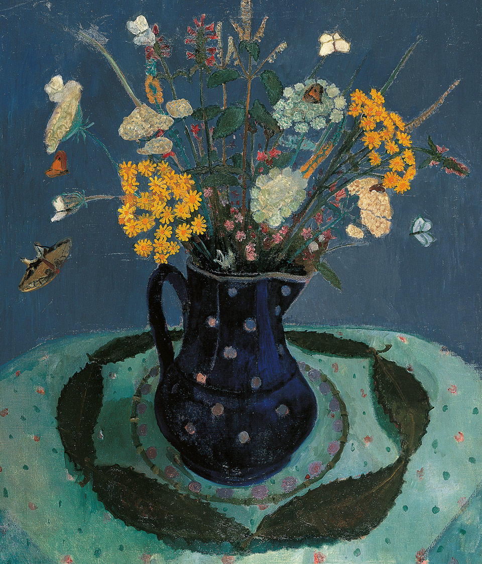 Paula Modersohn‑Becker: Feldblumenstrauß, 1906, Öl auf Leinwand, 69,5 x 57,9 cm, Kulturstiftung Sachsen‑Anhalt – Kunstmuseum Moritzburg Halle (Saale), Foto: Klaus E. Göltz