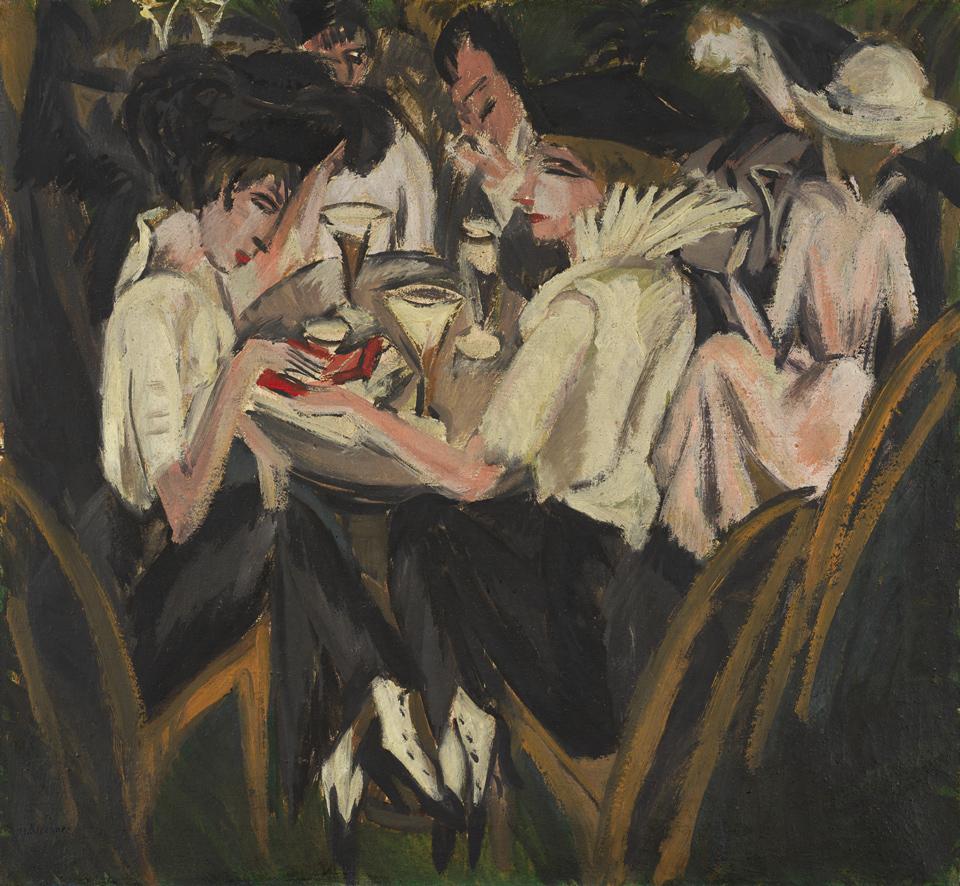 Ernst Ludwig Kirchner: Damen im Café, 1914/15, Öl auf Leinwand, 70,5 x 76 cm, Brücke Museum Berlin, Foto: Nick Ash