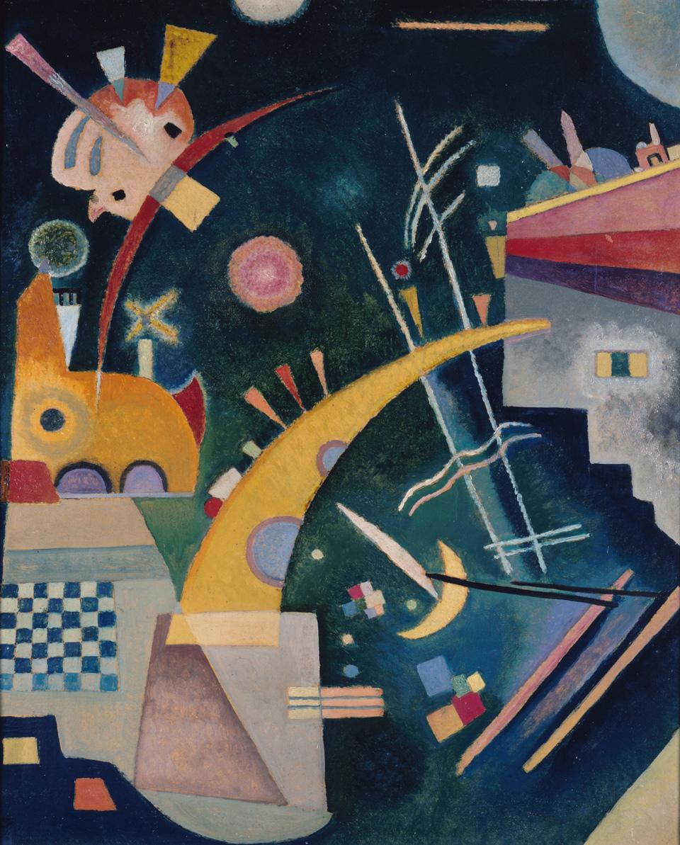 Wassily Kandinsky: Hornform, 1924, Öl auf Pappe, 57,5 x 49,5 cm, Neue Nationalgalerie, Berlin, Foto: bpk / Nationalgalerie, SMB / Jörg P. Anders