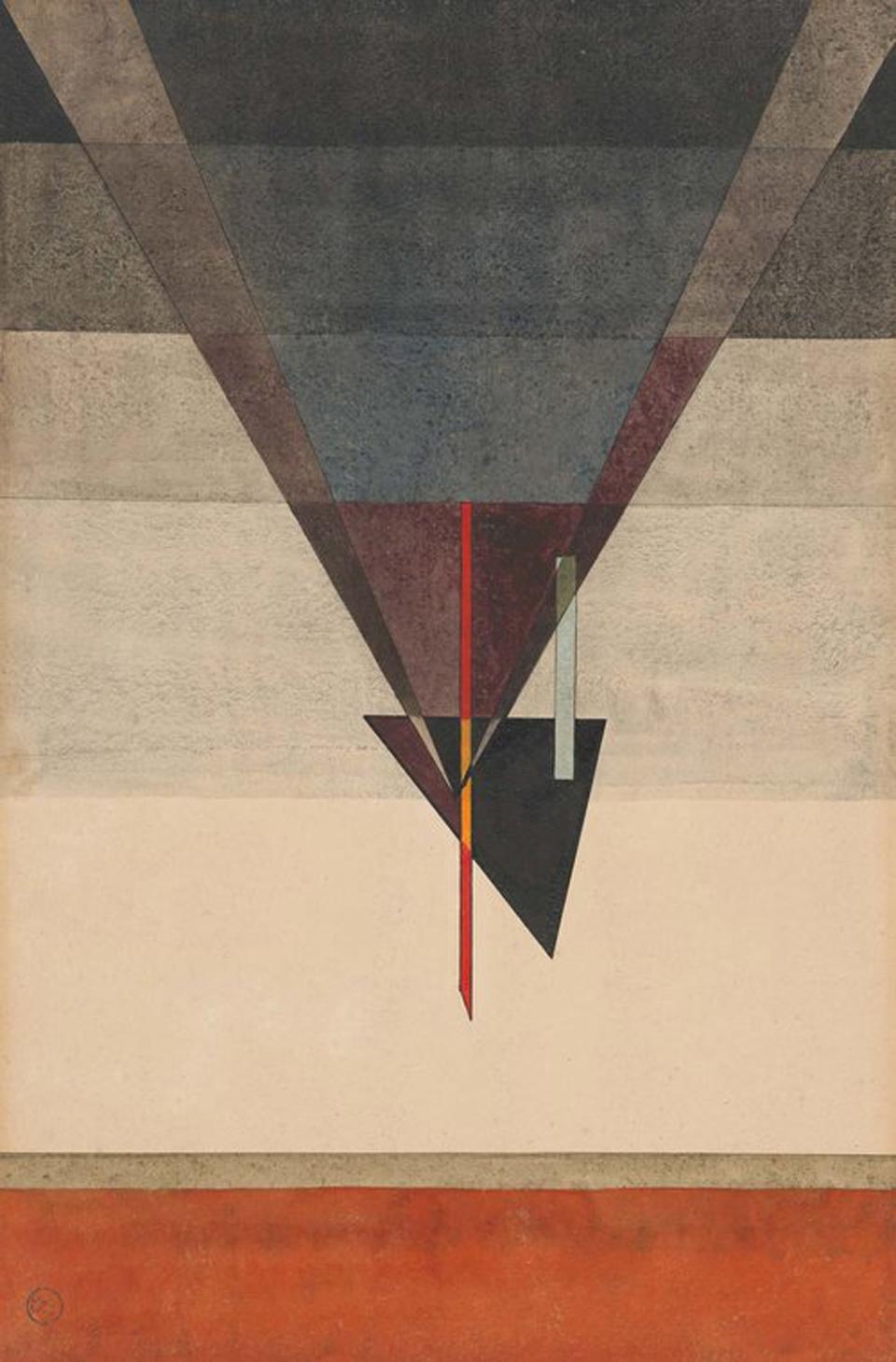 Wassily Kandinsky: Abstieg, 1925, Aquarell und Tusche, 484 x 322 mm, Kulturstiftung Sachsen-Anhalt, Kunstmuseum Moritzburg Halle (Saale), Foto :  Kulturstiftung Sachsen-Anhalt