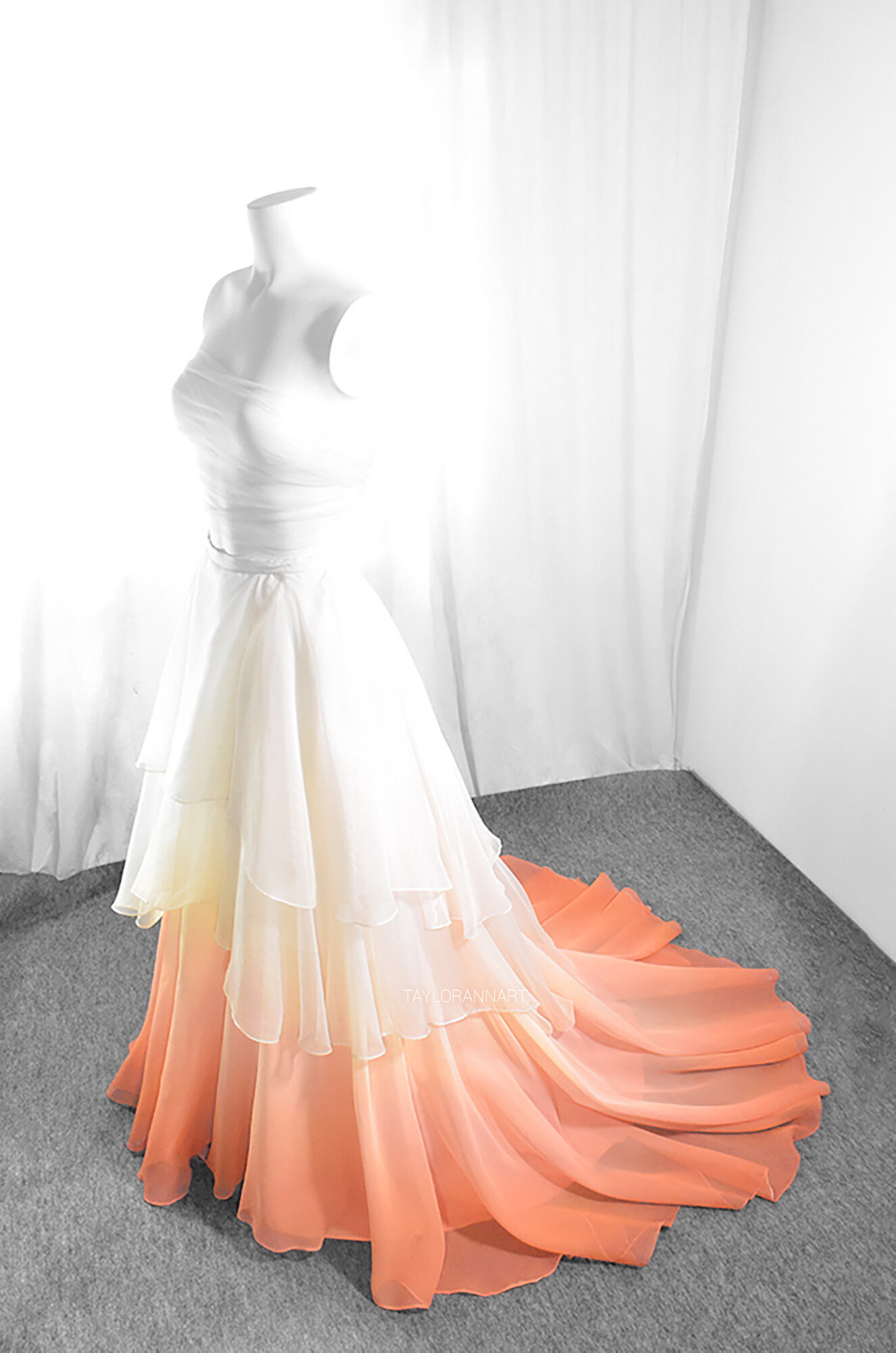 orange — Bridal Gowns Colored by
