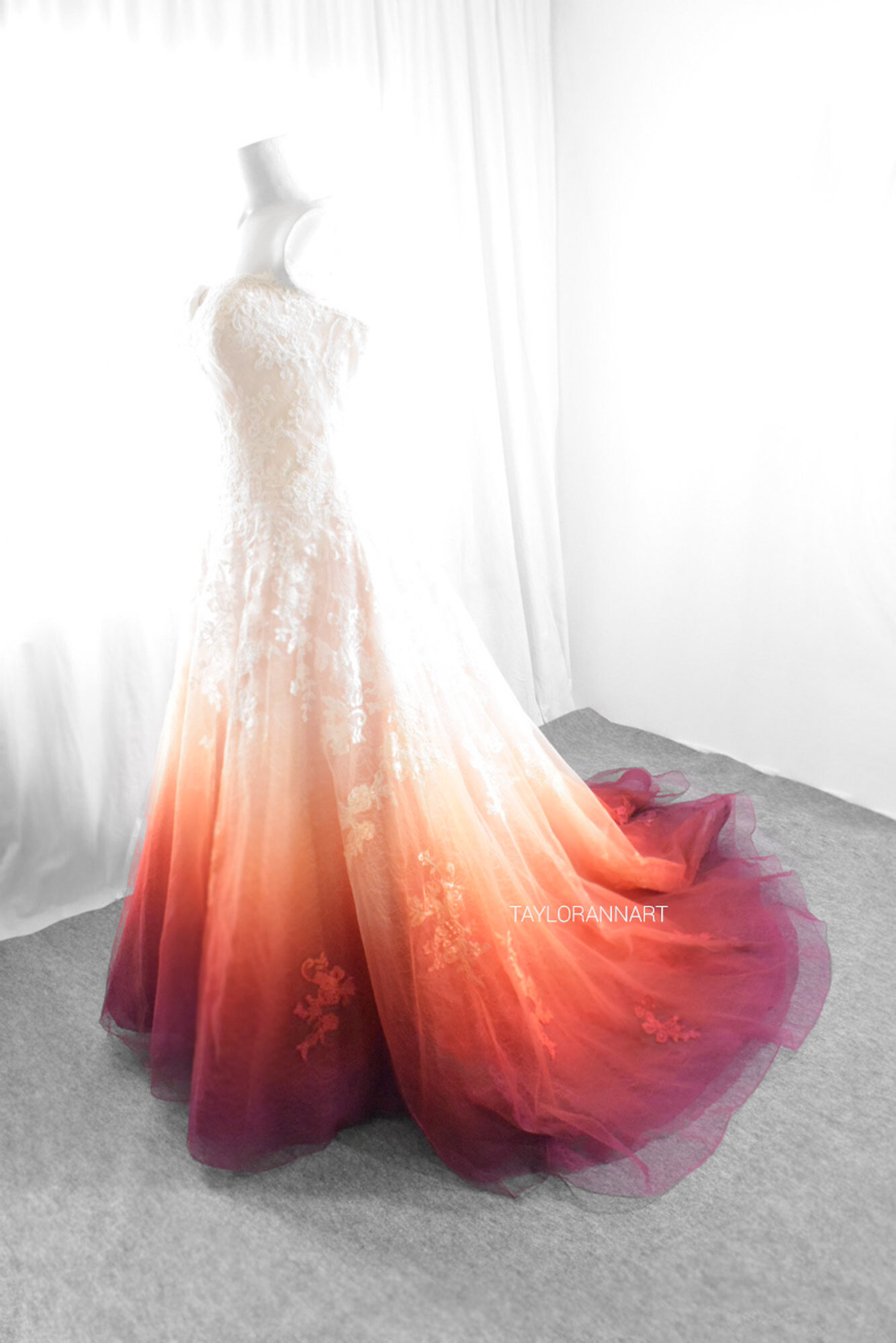 Bridal Gowns Colored By Taylor Ann Art Gallery,Affordable Wedding Dresses Uk