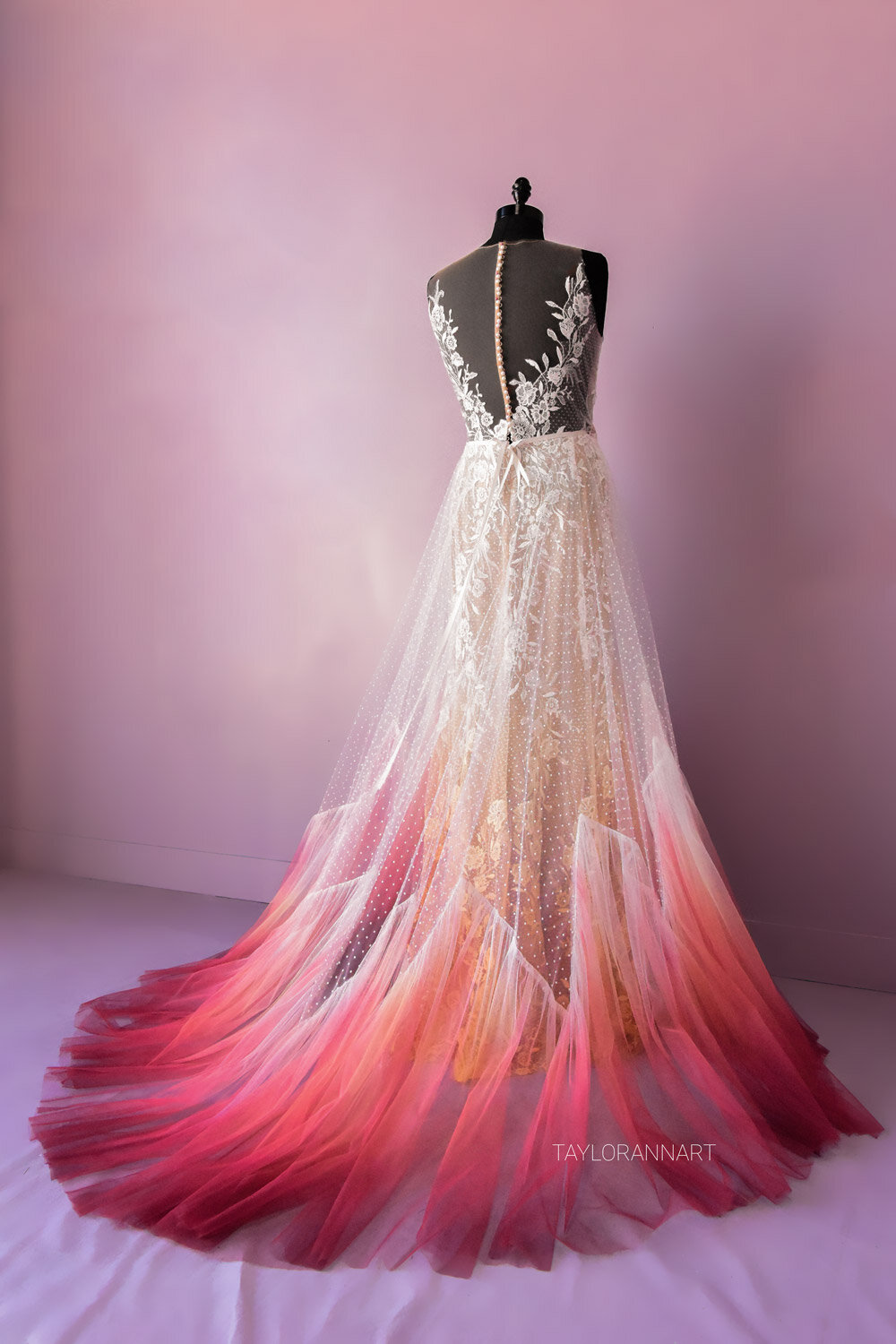 Bridal Gowns Colored By Taylor Ann Art Gallery,Long Sleeve Silk Wedding Dresses