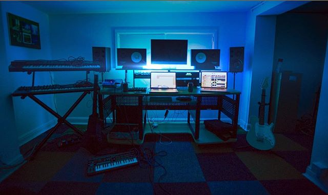 This year we moved & set up our new studio in a basement, needs some tinsel! Our debut album is out in 6 days and was mixed here! https://itunes.apple.com/gb/album/explorers/1313570140  #newmusic #newalbum #newmusicalert #newstudio #explorers #debutalbum #synthwave #synthpop #indieartist