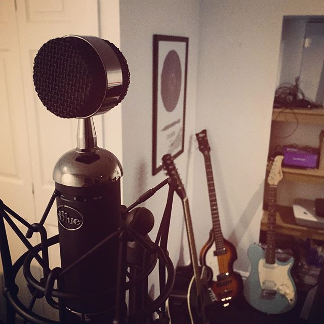 Into the blue. #studio #writing #testing #newmusic #explorers #bluemicrophones