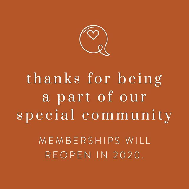 💫 A lot of exciting changes are happening around these parts! Along with the recent launch of our official public-facing social media profiles, we are also closing memberships for the time being. We will relaunch membership options in 2020 once we finalize our 501(c)3 nonprofit status and get our systems in place moving forward. We are so grateful for your interest and support of the GBC over the past 2.5 years. Here's to many more to come! 💫