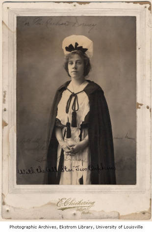 (Above) In November 1904 Sarah Truax performed in  The Two Orphans , at Macaulay's Theatre, Louisville, Kentucky. Photo from Macauley's Theatre Collection.