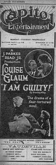 Examiner , Oct. 1, 1921, p.16 — the Capitol entertainment, with vaudeville.