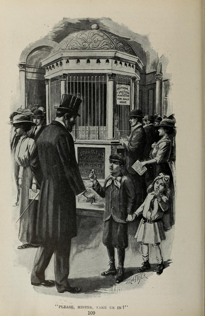 """Please, Mister, Take Us In?"" The motion picture habit develops early. Motion Picture Magazine, December 1913, p.90."