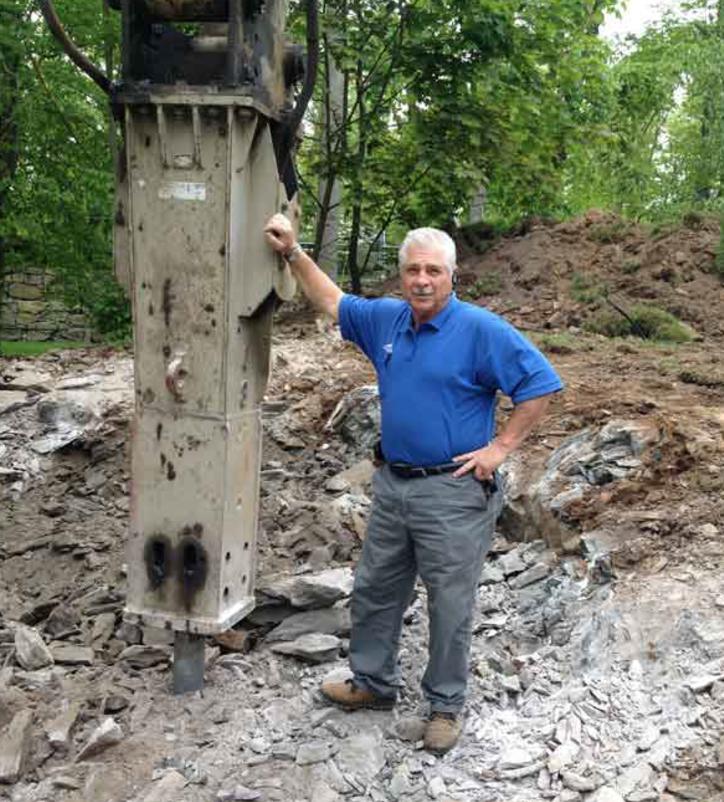 Hydraulic rock removal in Mt. Kisco, NY