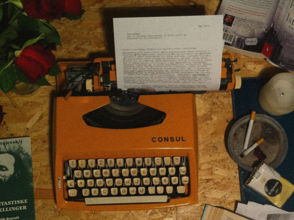 My working desk at my loft in Copenhagen, where I wrote some of the worst stuff I've ever written.