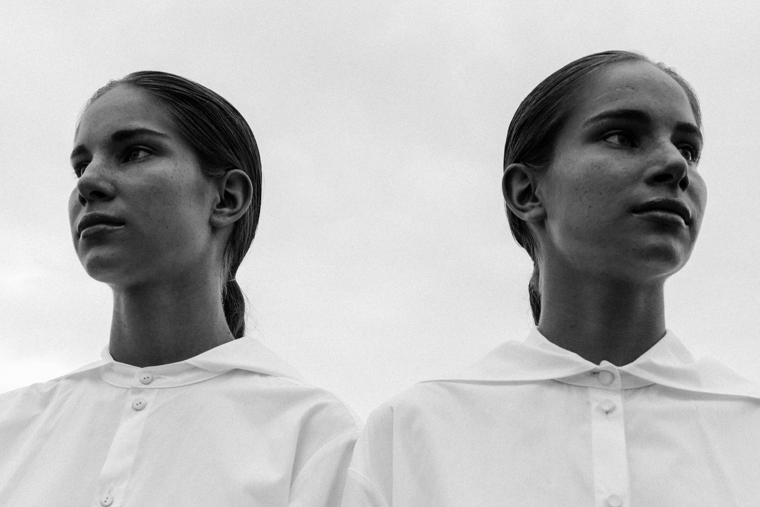 "From ""Twins"" editorial featured online in Less Magazine - Photography by Tom Kleinschmidt"